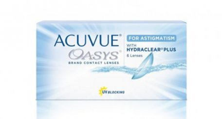 ACUVUE® OASYS Brand with HYDRACLEAR® PLUS Technology for ASTIGMATISM